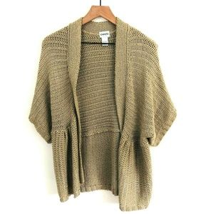Chico's Open Front Knit Cardigan Sweater